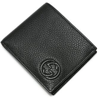Gucci GUCCI 2 fold wallet SOHO black 365485 A 7M0N1000 2015 spring summer new mens