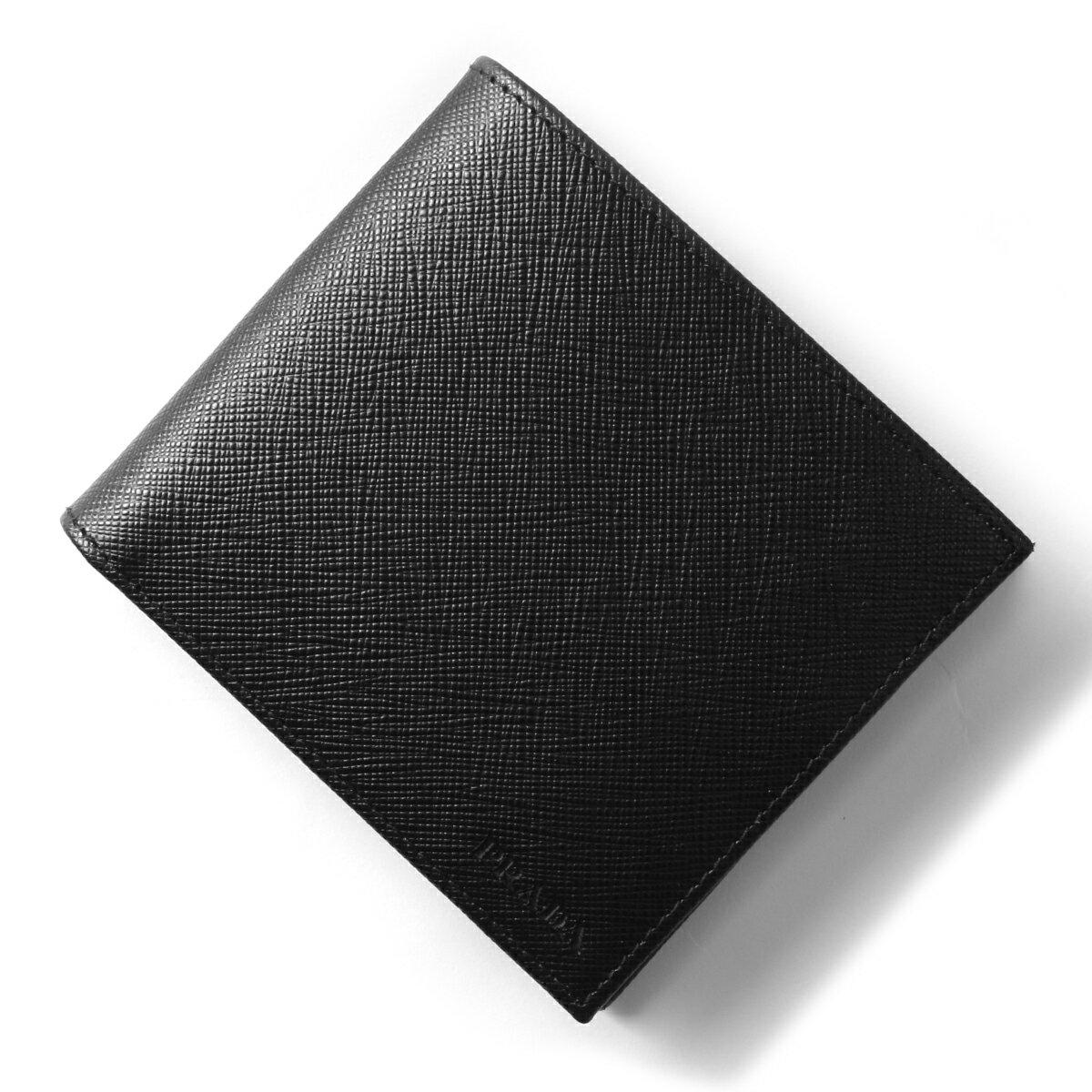 プラダ 二つ折り財布 財布 メンズ SAFFIANO 1 ブラック 2MO738 PN9 F0002 PRADA