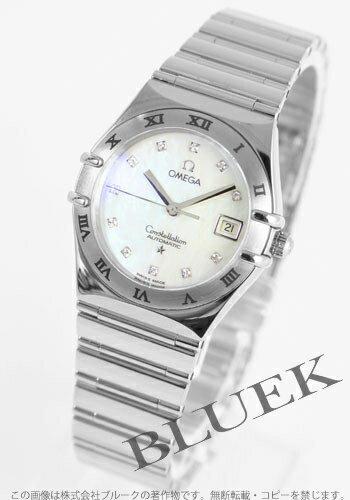 1193.76 オメガコンステレーション WG pure gold automatic diamond index white shells lady's my choice