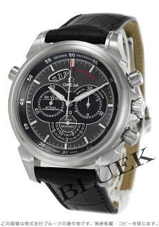 Omega-Devil co-axial rattrapante chronograph with crocodile leather grey & Black mens 422.13.44.51.06.001
