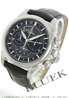 Omega-Devil co-axial Chronoscope GMT automatic leather dark brown & Black mens 422.13.44.52.13.001