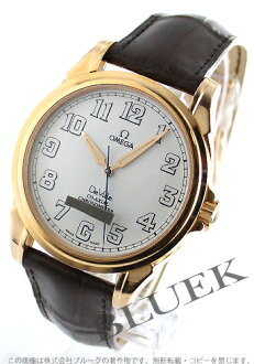 Omega-Devil coaxial RG Wilsdorf alligator leather brown / white men's 4660.20.32
