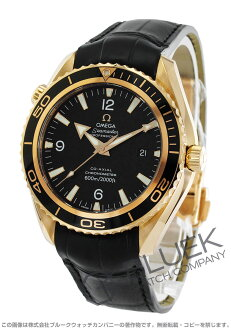 Rakuten Japan sale ★ Omega Seamaster Planet Ocean RG Wilsdorf coaxial 600 m waterproof leather black mens 222.63.46.20.01.001