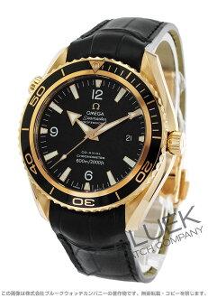 Rakuten Japan sale ★ Omega Seamaster Planet Ocean RG Wilsdorf coaxial 600 m waterproof leather black mens 222.63.46.20.01.001