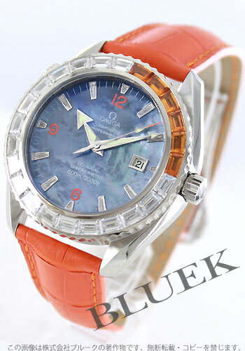 Omega Seamaster Planet Ocean 2906.50.38 diamond 600 m Orange brushed men's waterproof leather