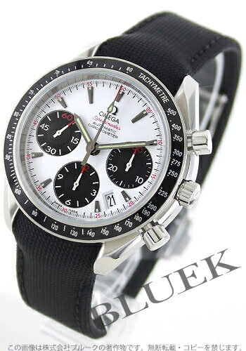 Rakuten Japan sale ★ Omega Speedmaster date chronometer automatic leather white & Black mens 323.32.40.40.04.001