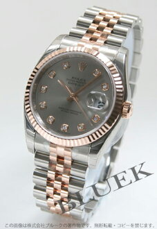 Rolex Ref.116231G Datejust diamond index PG duo grey mens
