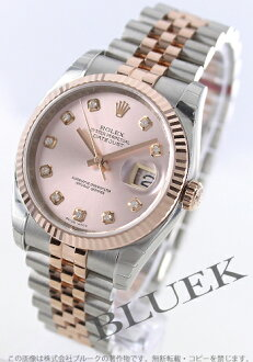 Rolex Ref.116231 Datejust RG Combi diamond index pink mens