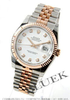 Rolex Ref.116231G date just diamond index PG combination white men