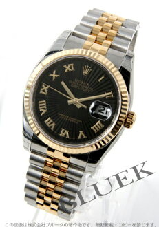 Rolex Ref.116233 date just YG combination black long novel men