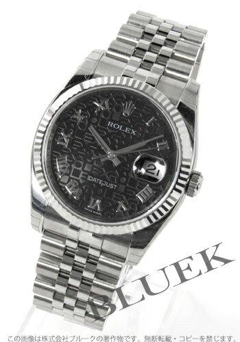 Rolex Ref.116234 Datejust WG bezel 5 breath men's Black Roman