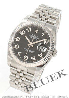 Five Rolex Ref.116234 date just WG bezel breath black (outlet Rick) Arabia men