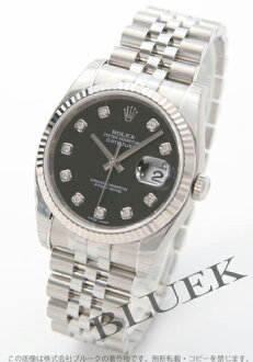 Rolex Ref.116234G Datejust diamond index WG bezel 5 black men's breath