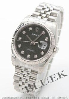Rolex Ref.116234J Datejust diamond index WG bezel black mens
