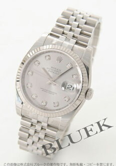 Rolex Ref.116234G date just diamond index WG bezel gray men