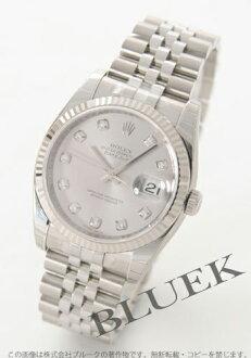 Rolex Ref.116234G date just diamond index WG bezel gray men