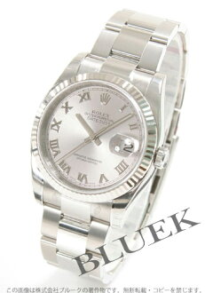 Rolex Ref.116234 Datejust WG bezel grey Roman men