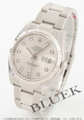 Three Rolex Ref.116234G date just diamond index WG bezel breath silver men