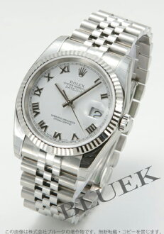 Rolex Ref.116234 Datejust WG bezel 5 breath White Roman men's