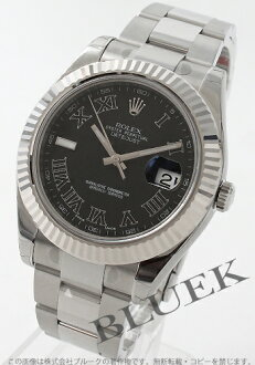 Rolex Ref.116334 Datejust WG bezel Black Roman men