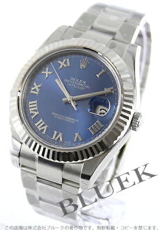 Rolex Ref.116334 Datejust WG bezel blue Roman men