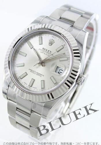 Rolex Ref.116334 date just II WG bezel silver men