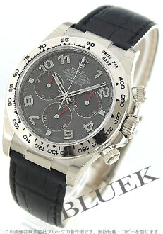 Rolex Cosmograph Daytona Ref.116519 WG Wilsdorf alligator leather black / grey mens