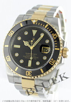 Rolex Ref.116613 Submariner date YG Combi diamond index black mens