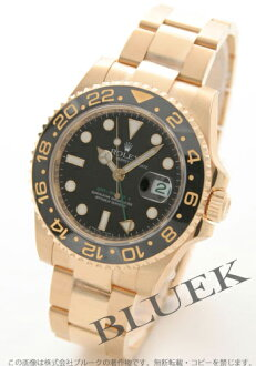 Rolex Ref.116718 GMT Master II YG pure gold black mens