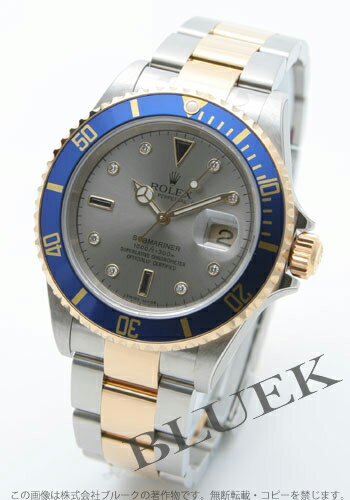 Rolex Ref.16613SG submarina date diamond index YG combination gray men