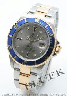 Rolex Ref.16613SG submarina date diamond index YG combination gray men