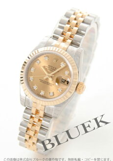 Rolex Ref.179173G Datejust diamond index YG Combi gold ladies