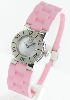 Chaumet class one 3 P diamond rubber pink / blue shell Womens W06204-09B