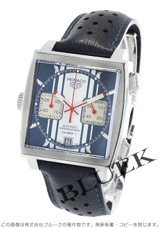 Tag Heuer Monaco automatic chronograph Steve Mac Vienna model blue & white men's CAW211D... FC6300
