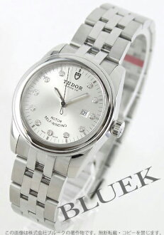 Tudor glamour 53,000 diamond index 5-breath silver ladies