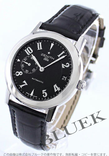 Zenith port royal elite Small second leather black men 01.0451.680/22.C492