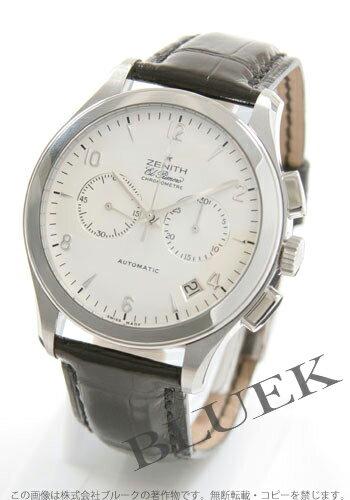 Zenith class L primero chronograph alligator leather black / silver men 03.0510.4002/01.C492