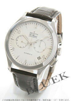 Zenith class L primero chronograph alligator leather black / silver men 03.0510.4002/01.C492