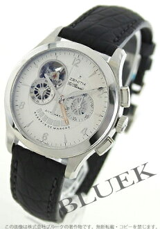 Zenith ground Kurono master opening L primero alligator leather black / silver men 03.0510.4021/02.C683