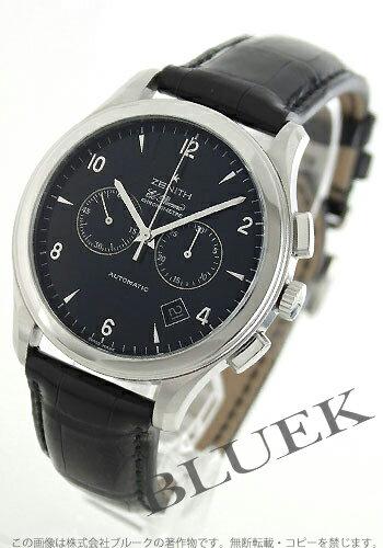 Zenith Grand class elite chronometer alligator leather black mens 03.0520.4002/21.C492