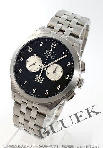 Zenith ground class Kurono master L primero chronograph black & silver men 03.0520.4010/21.M520