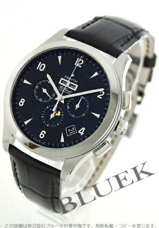 Zenith ground class elite chronograph moon phase alligator leather black men 03.0520.410/22.C492 GB