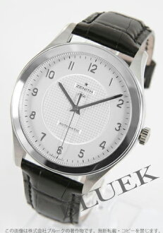 Xmas sale ★ Zenith class elite automatic leather black / silver men 03.0520.679/02.C492