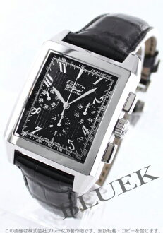 Zenith ground port royal L primero chronograph leather black men 03.0550.400/21.C492