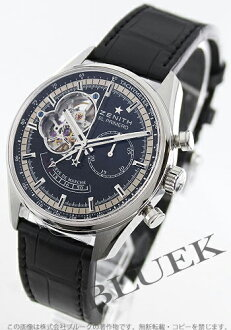 Zenith El Primero Chronomaster open power reserve chronograph with crocodile leather black mens 03.2080.4021/21.C496