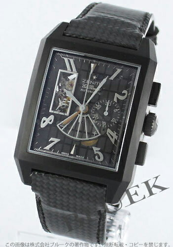 Zenith port Royale open concept Eli Primero titanium black mens 96.0550.4021/77.C550