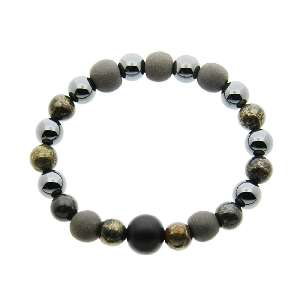 Natural stone bracelet power stone bracelet natural stone bracelet power stone bracelet black silica Japanese-style Bracelet (black) small / too hard stones