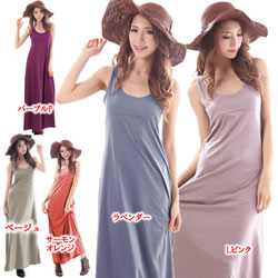 3835 Ringtone tops! Feeling the touch of? ~-celebrity-style スタイリッシュマキシ recommended as a タンクカットソーワン piece gown!