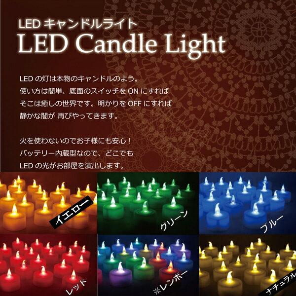 揺らめく 電池式 LEDキャンドル 1個 電池式 LEDキャンドルライト LEDロウソク LEDティーライトキャンドル
