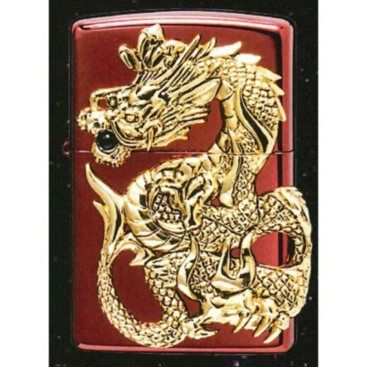 【Zippoライター】ドラゴンメタル RED 限定 MP-104395【546】【ラッキーシール対応】
